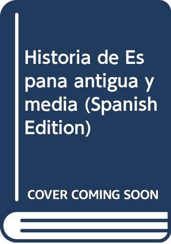 9788432118661: Historia de España antigua y media. 3 Tomos (Historia y Biografías)