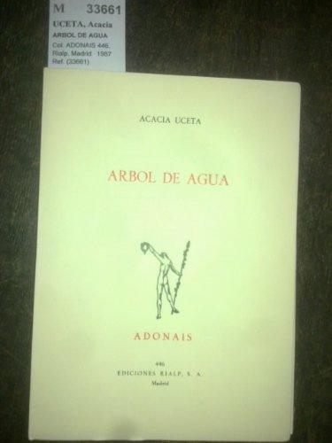 9788432123955: Arbol de agua (Adonais) (Spanish Edition)