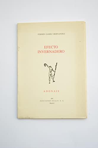 9788432127328: Efecto invernadero (Adonais) (Spanish Edition)