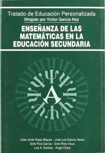 9788432130687: Enseñanza de las Matemáticas en la Educación Secundaria (Educación y Pedagogía)