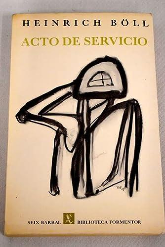 9788432218965: ACTO DE SERVICIO by BOLL