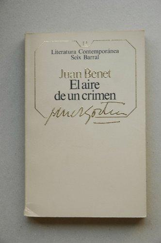 9788432220043: EL AIRE DE UN CRIMEN.