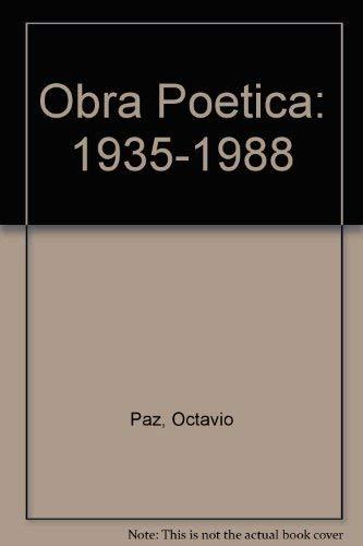 9788432295898: OBRA POETICA. (1935-1988)