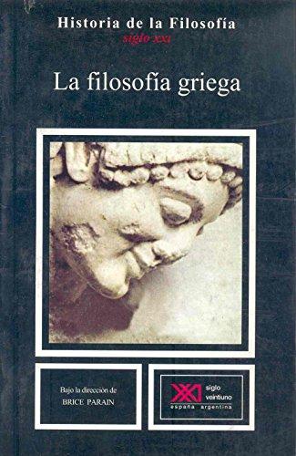 9788432300141: La filosofía griega (Historia de la filosofía)