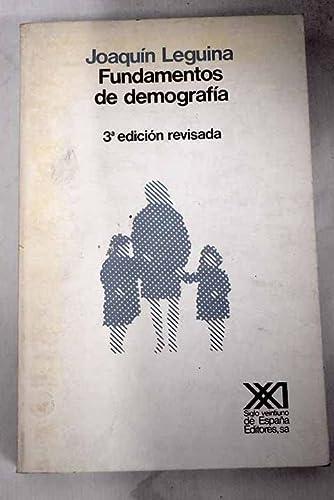 9788432304125: Fundamentos de demografía