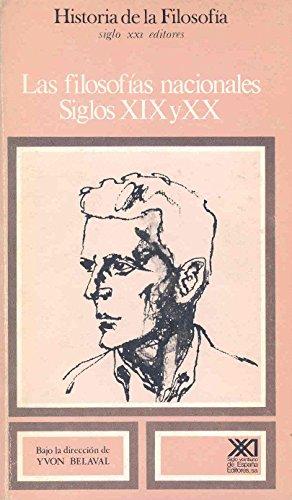 9788432304156: Las filosofías nacionales. Siglos XIX y XX. Vol. 9