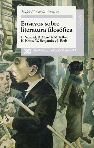 Ensayos sobre literatura filosofica (Spanish Edition): Rafael Garcia Alonso