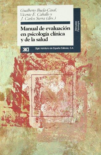 9788432309175: Manual de evaluación en psicología clínica y de la salud (Manuales)