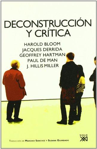 Deconstruccion y critica: Bloom, Harold