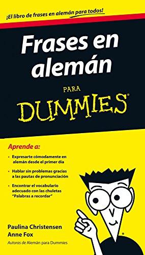 9788432901232: Frases en alemán para Dummies