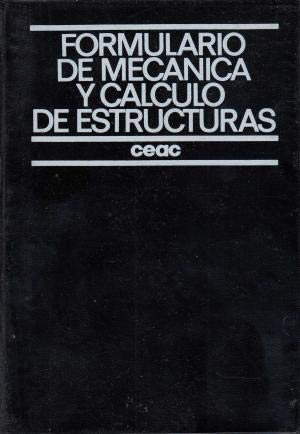 9788432935046: Formulario de mecanica y calculo de estructuras