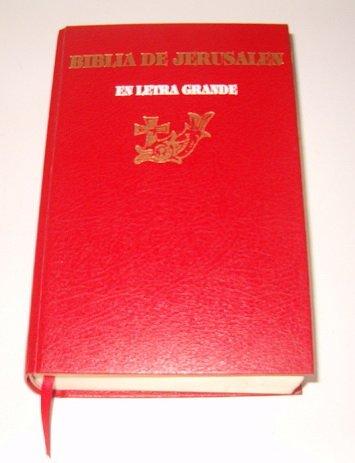 9788433009289: Biblia de Jerusalen En Letra Grande (Spanish Edition)