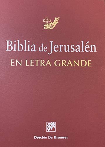 9788433014085: Biblia De Jerusalen. Ed. En Letra Grande