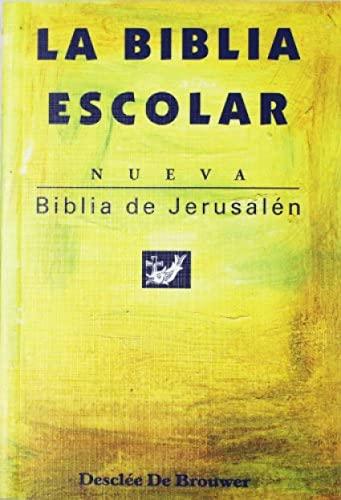9788433014870: La Biblia Escolar, nueva Biblia de Jerusalén