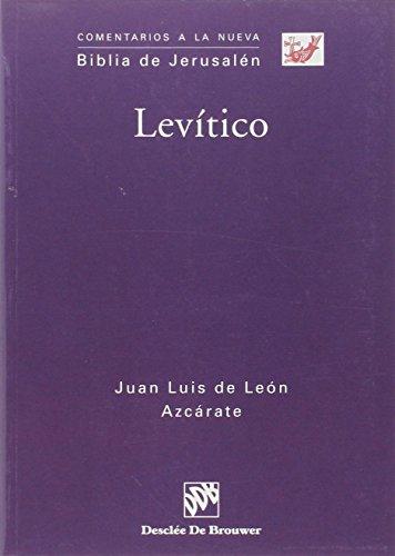 9788433020505: Levitico (Comentarios a la Nueva Biblia de Jerusalen) (Spanish Edition)