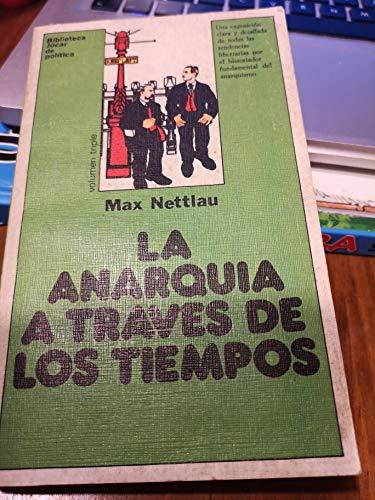 9788433410498: LA ANARQUIA A TRAVES DE LOS TIEMPOS.