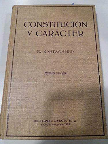 9788433515049: Constitucion y caracter