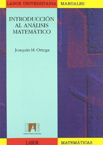9788433530479: Introducción al análisis matemático (Manuals (Coedició amb Labor))