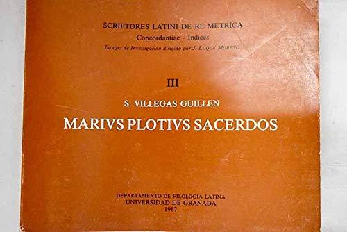 9788433805546: Marius plotius sacerdos: Scriptores latini de re metrica (Fuera de Colección)
