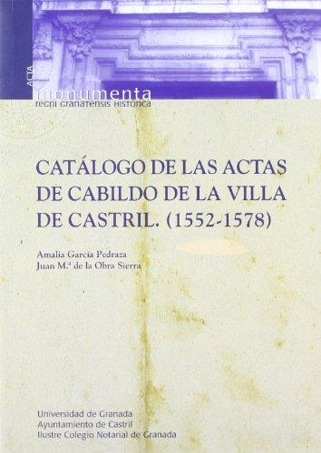 CATALOGO DE LAS ACTAS DE CABILDO DE LA VILLA
