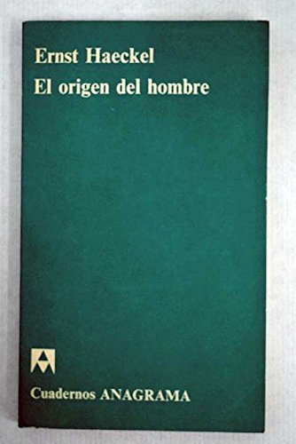 9788433903389: Origen del hombre, el