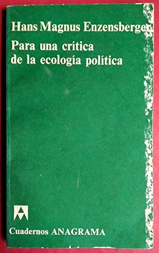 9788433903808: Para una critica de la ecologia politica