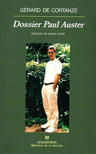 9788433907783: Dossier Paul Auster (Biblioteca de la memória)