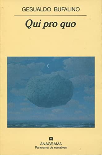 9788433911735: Qui pro quo (Panorama de narrativas)