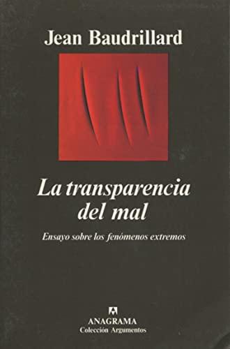 9788433913456: La Transparencia del Mal (Spanish Edition)