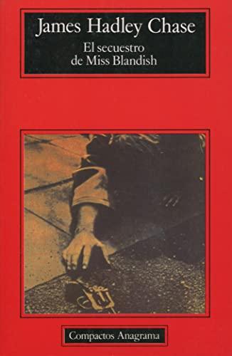9788433920294: El secuestro de Miss Blandish (Compactos)