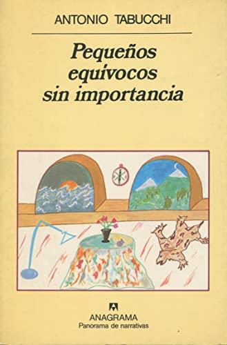 Pequenos Equivocos Sin Importancia (Spanish Edition) (8433931040) by Tabucchi, Antonio