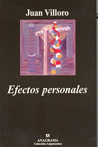 9788433961617: Efectos personales (Argumentos)
