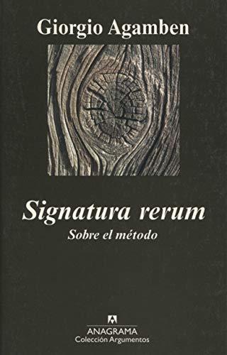 9788433963055: Signatura rerum: Sobre el método: 407 (Argumentos)
