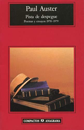 9788433966179: Pista de despegue: seleccion de poemas y ensayo, 1970-1979 (Spanish Edition)