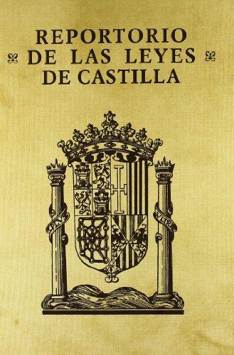 9788434011885: Reportorio universal de todas las leyes destos reynos de Castilla: Abreuiadas y reduzidas en forma de reportorio decifiuo (Spanish Edition)