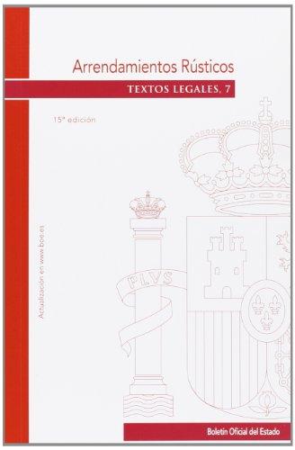 9788434020399: Arrendamientos Rústicos (Textos Legales)