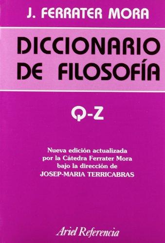 9788434405042: Diccionario de filosofía, vol. 4: Q-Z (Ariel Filosofía)
