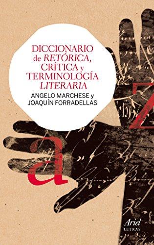 Diccionario de retórica, crítica y terminología literaria: Joaquín Forradellas Figueras;