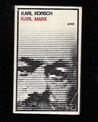 9788434407671: Karl Marx. Traducción de Manuel Sacristán. Cubierta de Alberto Corazón. by KO...
