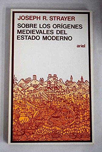 9788434408234: Sobre los orgenes medievales del estado moderno