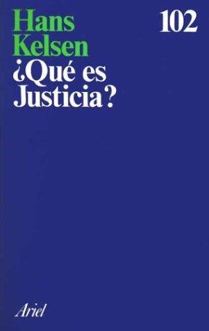 9788434411005: Que Es Justicia? (Spanish Edition)