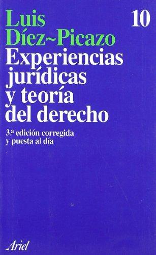 9788434411128: Experiencias jurídicas y teoría del Derecho (Ariel)