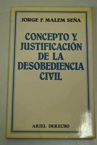 9788434415331: Concepto y justificación de la desobediencia civil (Ariel derecho) (Spanish Edition)