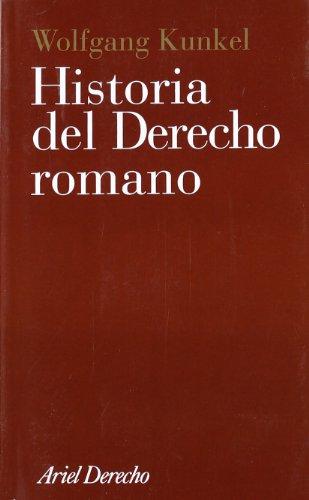 9788434416314: Historia del Derecho Romano (Ariel Derecho)