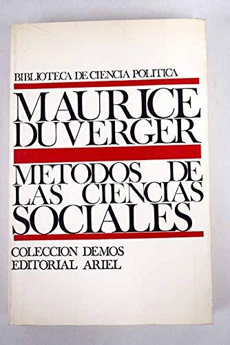 Metodos de las ciencias sociales: MAURICE DUVERGER