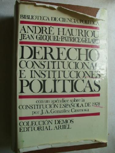 9788434417946: Derecho constitucional e instituciones politicas