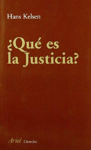 QUE ES JUSTICIA?: KELSEN, HANS