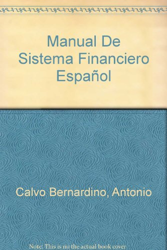 9788434421950: Manual de sistema financiero español