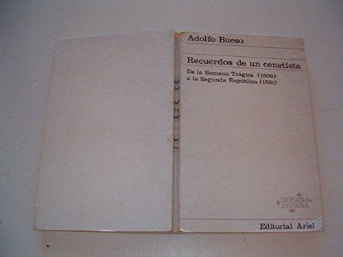 9788434424869: Recuerdos de un cenetista (Horas de España) (Spanish Edition)