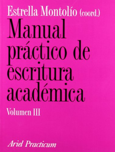 9788434428690: Manual práctico de escritura académica III